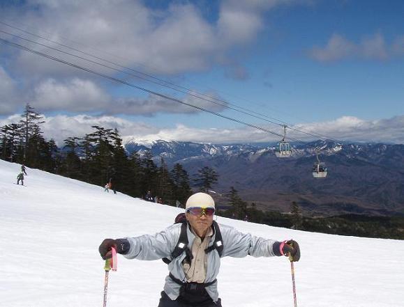 ウインドの翌日は今シーズン最後のスキー