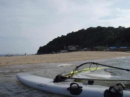 少し寂しい三河大島海水浴場